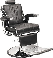 Barburys Aston Barber Chair Black with White Stitching